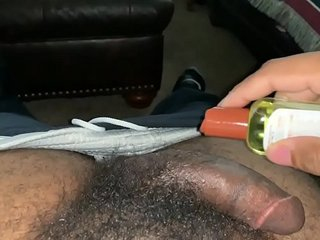 RUBBING THE CUM OUT OF MY BIG BLACK COCK (BBC) WHILE NO ONE IS HOME *CREAM DADDYV*