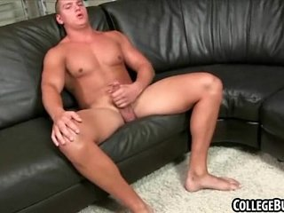 While alone this hot college hunk with a hardon solos