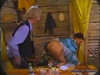 MIlf fuck with the guys at the table