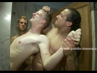 Blond and gay man gets his cock sucked