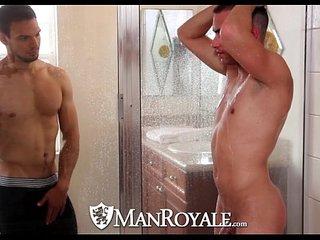 HD - ManRoyale Boyfriends share a shower before sex