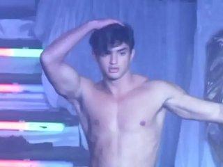 Brazilian gogoboy Felipe Pedrosa doing a fully striptease