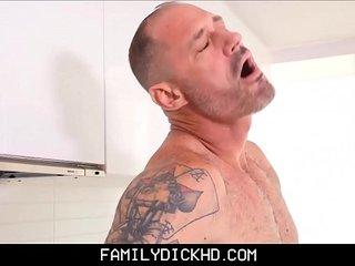 Step Son Sucks Daddy's Cock In The Kitchen