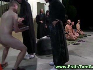 Straight frat freshman gets dildo in his ass