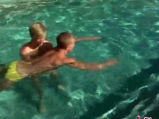 Hero gets a grand gay thank you for the rescue in the pool
