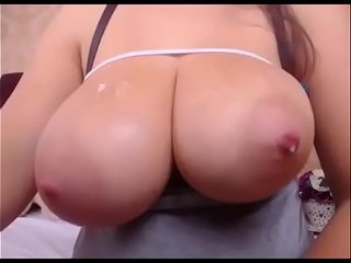 Huge boobs girlfriend with breast milk live cam show