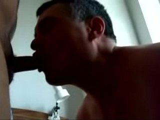 Gay Blowjob Doggie Style Fuck and Facial with Cumeating