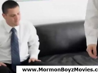 Teen Mormon twinks wrestle in underwear and strip